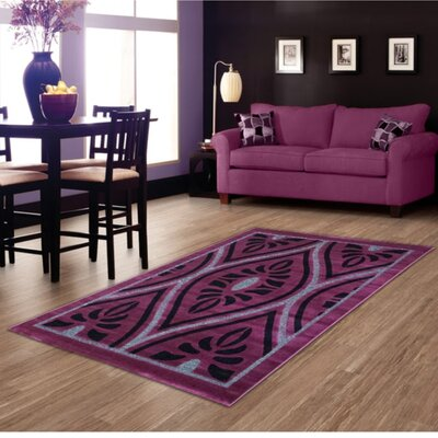 Purple Area Rug Rug Size: 5 x 8