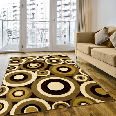 Chocolate Area Rug Rug Size: 8 x 11
