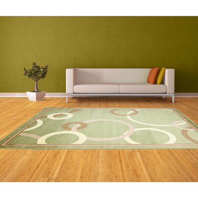 Ashby Geometric Green Area Rug