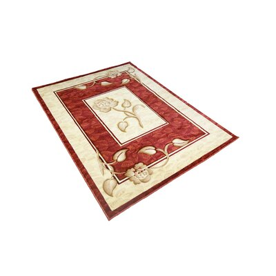 Gale Traditional Red/ Ivory Area Rug