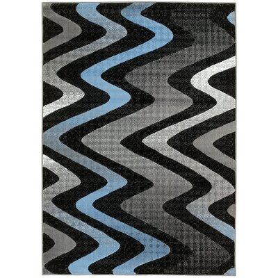 Acton Gray/Black Area Rug