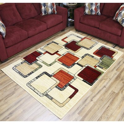 Cream Area Rug Rug Size: 8 x 11