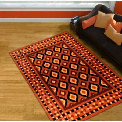 Orange Area Rug Rug Size: 5 x 8