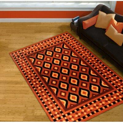 Orange Area Rug Rug Size: 8 x 11