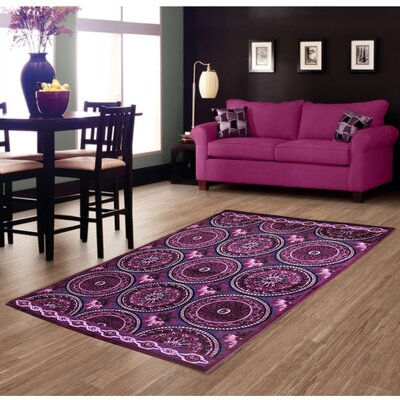 Lilac Area Rug Rug Size: 8 x 11