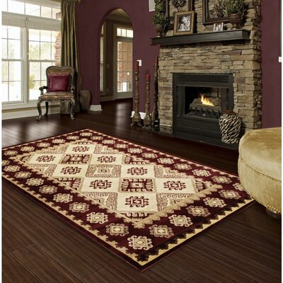 Red Area Rug Rug Size: 5 x 8