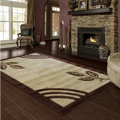 Hand-Carved Brown Area Rug Rug Size: 5 x 8
