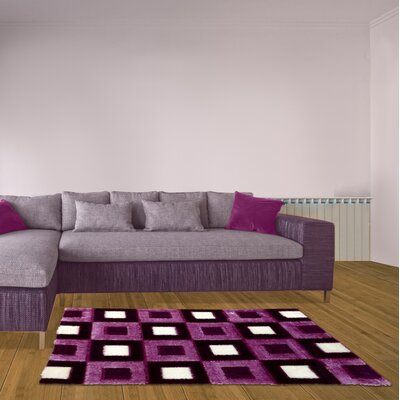 Purple Area Rug Rug Size: 8 x 11