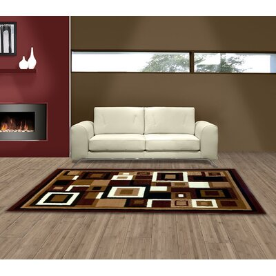Brown Area Rug Rug Size: 5 x 7
