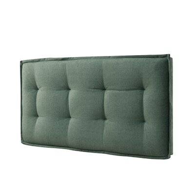 Walther Tufted Upholstered Panel Headboard Size: Twin, Upholstery: Faded Green