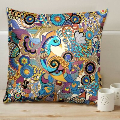 Peacock Admiration Cushion Cover