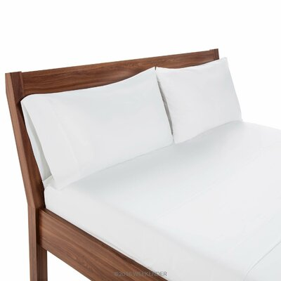 200 Thread Count Hotel Bedding Flat Sheet Size: Queen