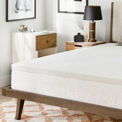 2 Memory Foam Mattress Topper Size: California King
