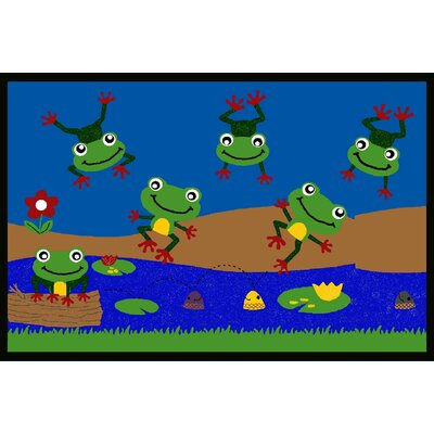 Kids Art Feelin Froggy Indoor Area Rug Rug Size: 8 x 10