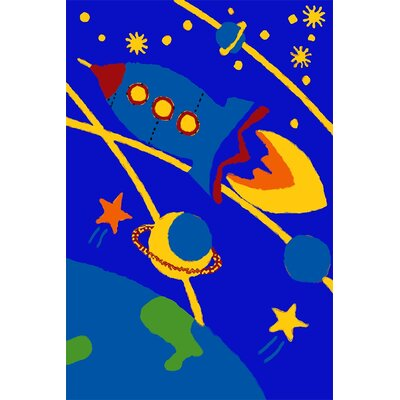 Kids Art Blast Off Tufted Blue Kids Rug Rug Size: 8 x 10