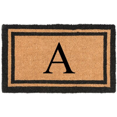 YourOwn Monogrammed Welcome Doormat Letter: A