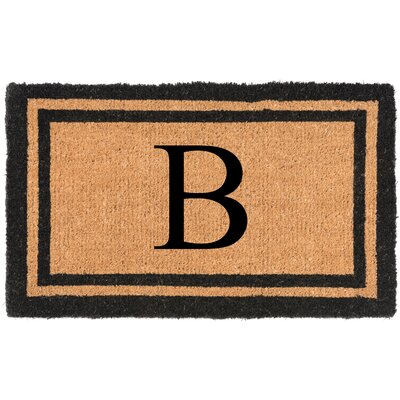 YourOwn Monogrammed Welcome Doormat Letter: B