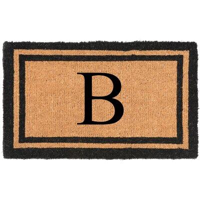 YourOwn Monogrammed Welcome Doormat Letter: B