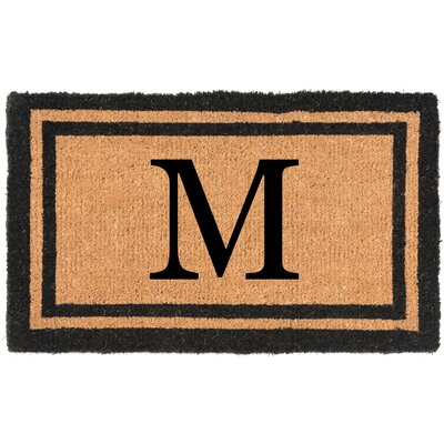 YourOwn Monogrammed Welcome Doormat Letter: M