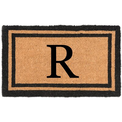 YourOwn Monogrammed Welcome Doormat Letter: R