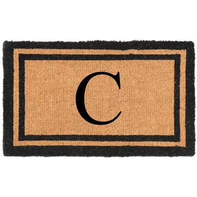 YourOwn Monogrammed Welcome Doormat Letter: C
