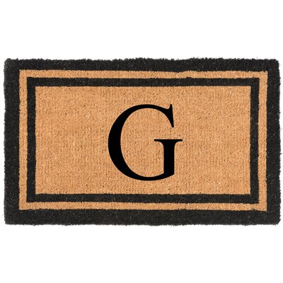 YourOwn Monogrammed Welcome Doormat Letter: G