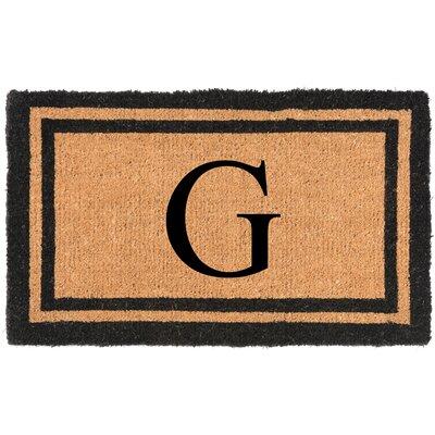 YourOwn Monogrammed Welcome Doormat Letter: G