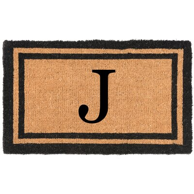 YourOwn Monogrammed Welcome Doormat Letter: J