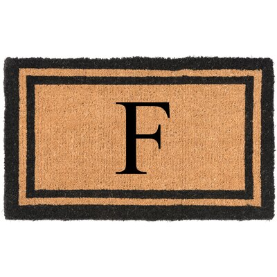 YourOwn Monogrammed Welcome Doormat Letter: F