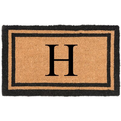 YourOwn Monogrammed Welcome Doormat Letter: H