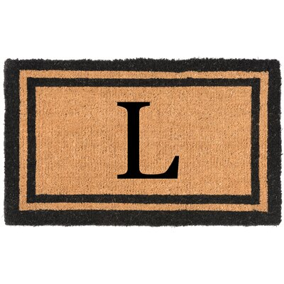 YourOwn Monogrammed Welcome Doormat Letter: L