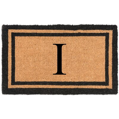 YourOwn Monogrammed Welcome Doormat Letter: I