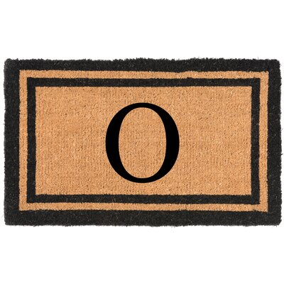 YourOwn Monogrammed Welcome Doormat Letter: O