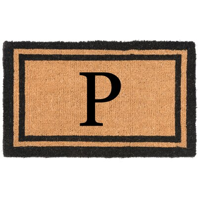 YourOwn Monogrammed Welcome Doormat Letter: P