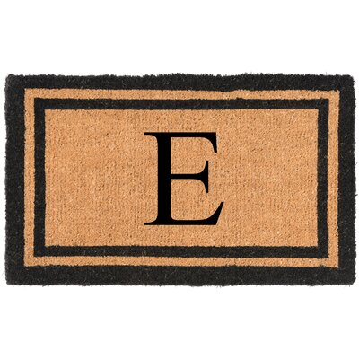 YourOwn Monogrammed Welcome Doormat Letter: E