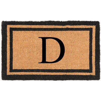 YourOwn Monogrammed Welcome Doormat Letter: D