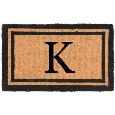 YourOwn Monogrammed Welcome Doormat Letter: K