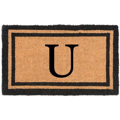 YourOwn Monogrammed Welcome Doormat Letter: U