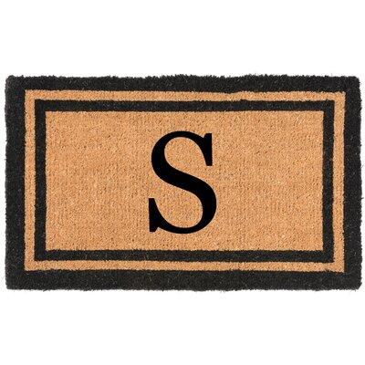 YourOwn Monogrammed Welcome Doormat Letter: S