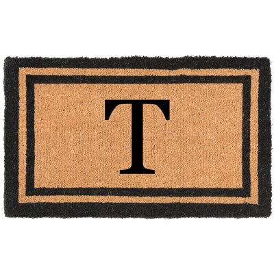 YourOwn Monogrammed Welcome Doormat Letter: T