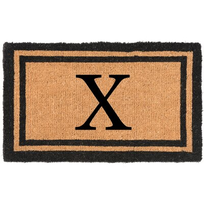 YourOwn Monogrammed Welcome Doormat Letter: X