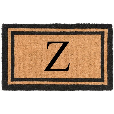 YourOwn Monogrammed Welcome Doormat Letter: Z
