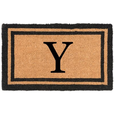 YourOwn Monogrammed Welcome Doormat Letter: Y