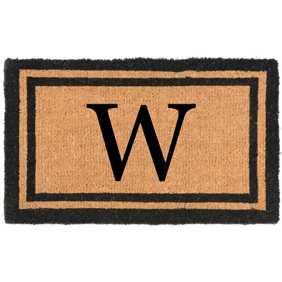 YourOwn Monogrammed Welcome Doormat Letter: W