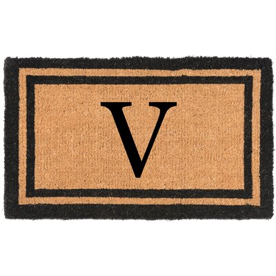 YourOwn Monogrammed Welcome Doormat Letter: V