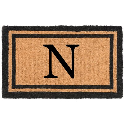 YourOwn Monogrammed Welcome Doormat Letter: N