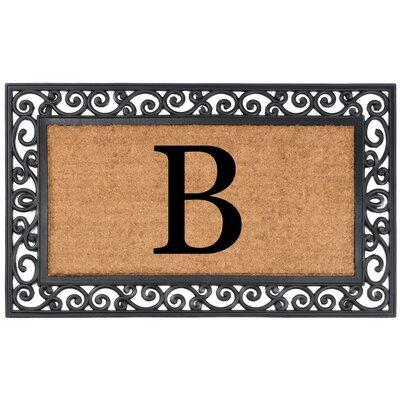 YourOwn Monogrammed Rubber Doormat Letter: B