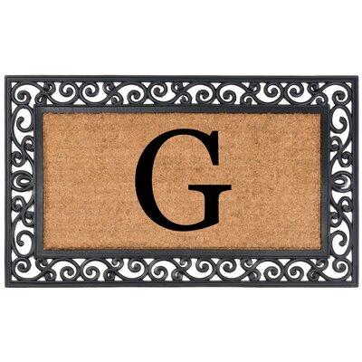 Allete Monogrammed Rubber Doormat Letter: G