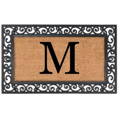 YourOwn Monogrammed Rubber Doormat Letter: M