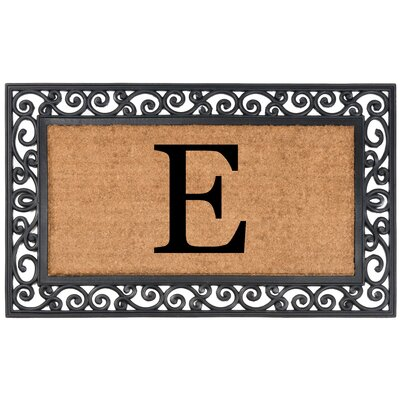 YourOwn Monogrammed Rubber Doormat Letter: E